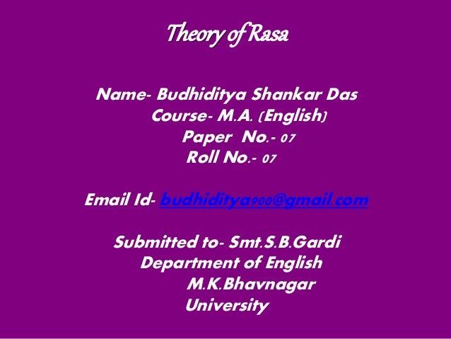 Rasa theory presentation