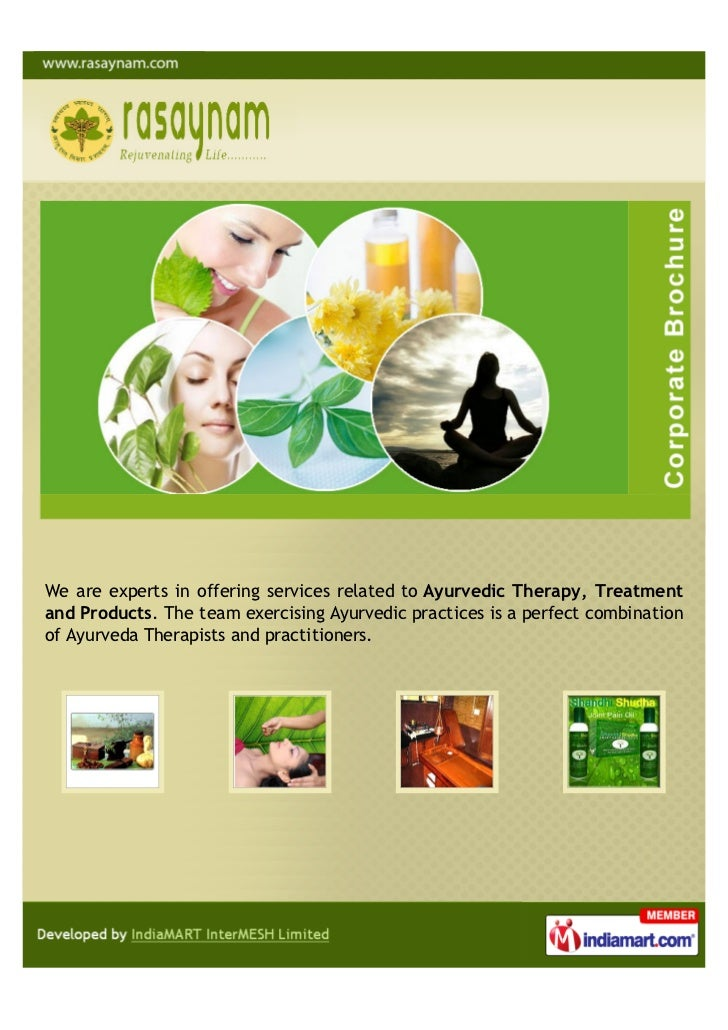 We are experts in offering services related to Ayurvedic Therapy, Treatmentand Products. The team exercising Ayurvedic pra...