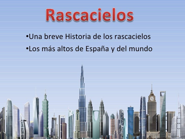 Rascacielos del mundo y espa a - Tarimas del mundo madrid ...