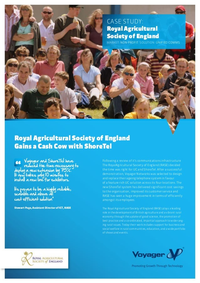 Following a review of it's communications infrastructureThe RoyalAgricultural Society of England (RASE) decidedthe time wa...
