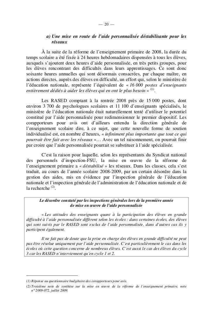 — 23 —          ● Un texte insuffisant et insatisfaisant ?         Les clarifications apportées par la circulaire du 17 ju...
