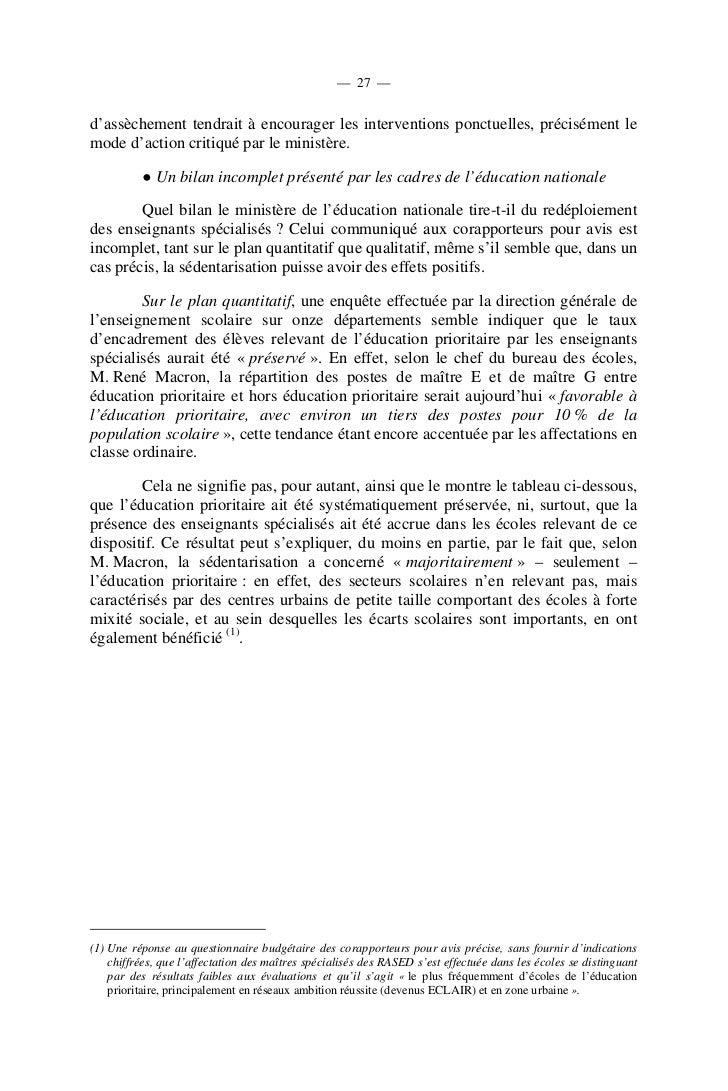 — 30 —                               Les départs en formation spécialisée    Départs en                  Maîtres E        ...
