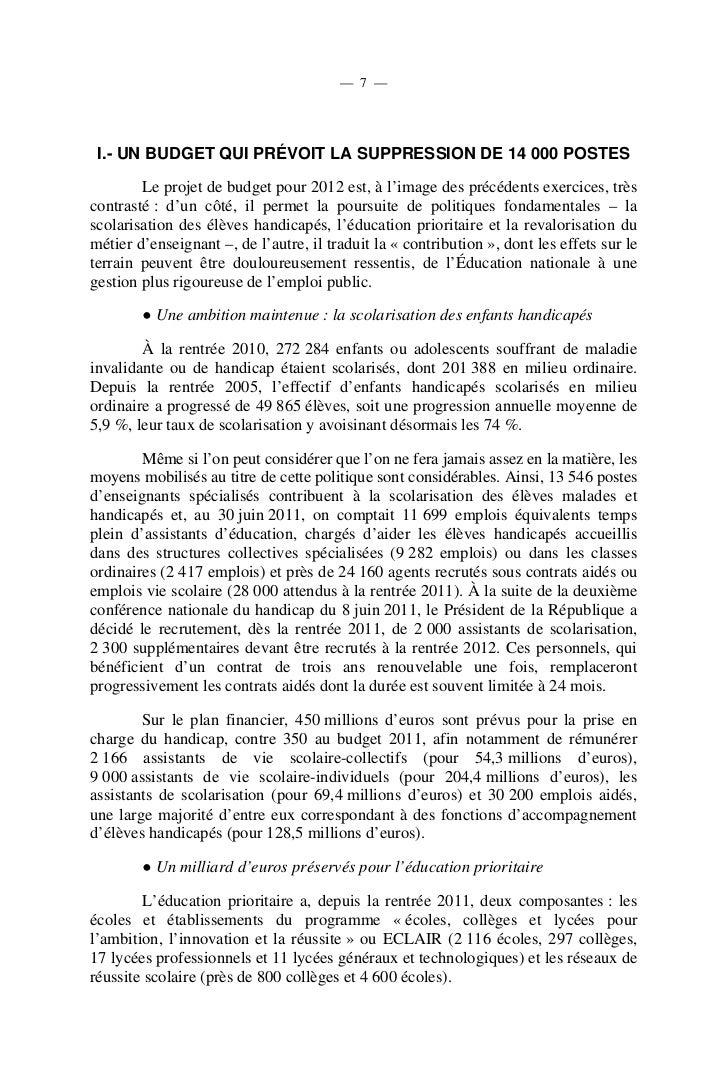 — 9 —       La mobilisation de ces différents leviers devrait se traduire à la rentrée2012 par la suppression de :        ...