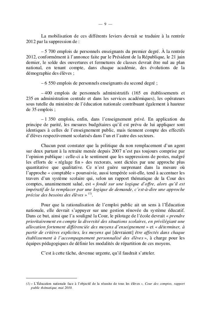 — 12 —      A. VINGT ANNÉES D'INTERVENTIONS                             AU     SERVICE        DES      ÉLÈVES         DÉLI...