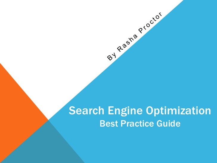 Search Engine Optimization     Best Practice Guide
