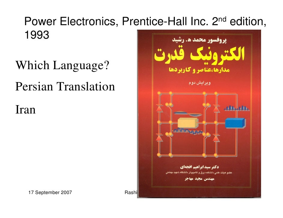 power electronics rashid 2nd edition pdf