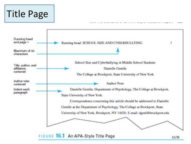 Apa research paper format 2011