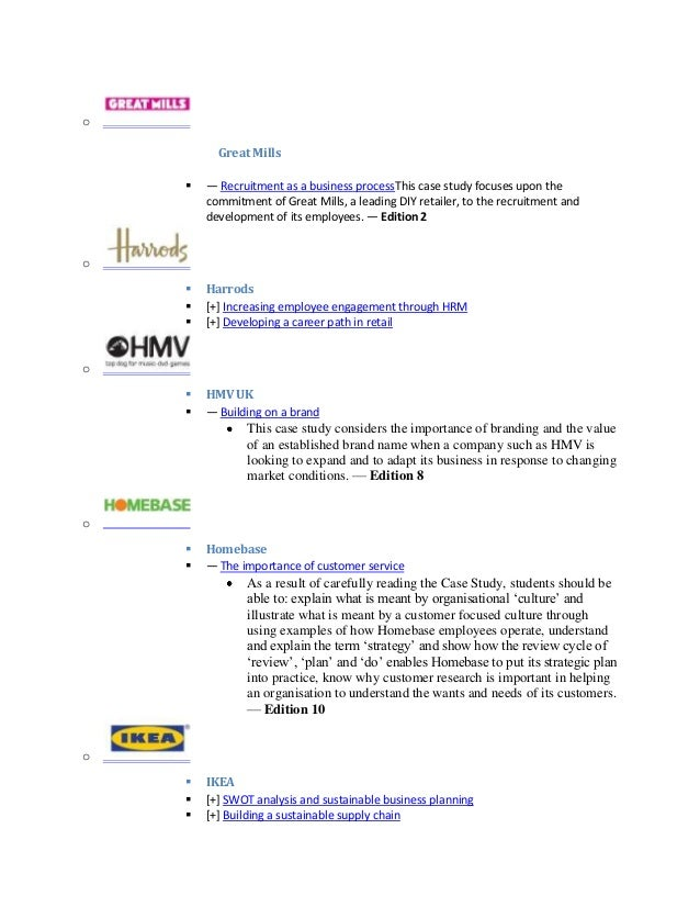 hmv and different stakeholders Below is a copy of the aqa buss4 specification they should understand differing stakeholder perspectives and the potential for conflict and the hmv dixons.