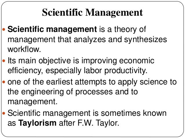 the father of scientific management is