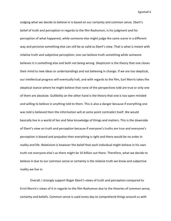 rashomon essay 4