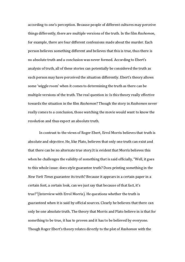 rashomon essay