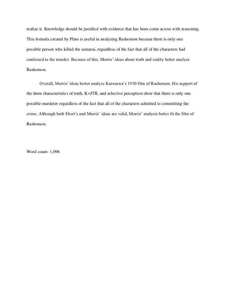 Correct and incorrect perceptual hypothesis essay