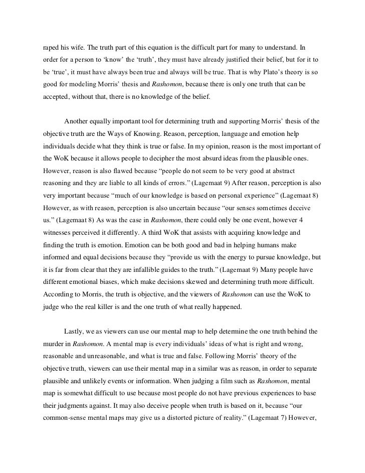 rashomon 2 essay Rashomon gate essay - akutagawahowever, the movie rashomon is based mainly off of the short story in a grove by ryunosuke akutagawa however.