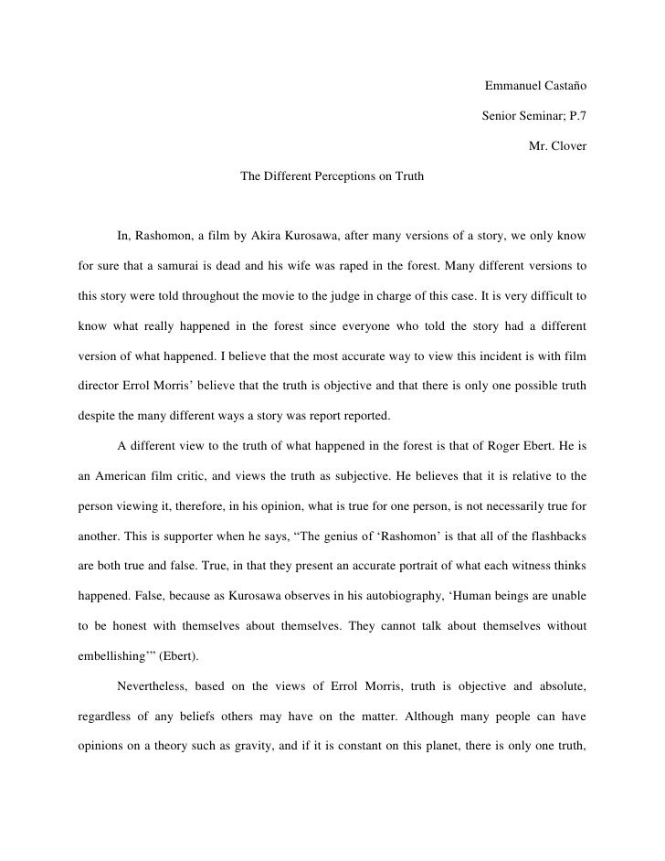 rashomon 2 essay Kurosawa month continues with an analysis of rashomon support renegade cut media  rashomon film essay  on filming rashomon - duration: 2.