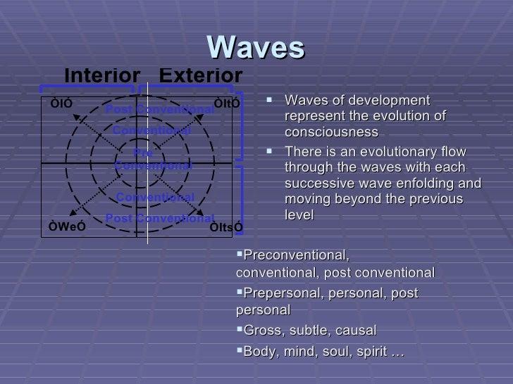 Waves <ul><li>Waves of development represent the evolution of consciousness </li></ul><ul><li>There is an evolutionary flo...