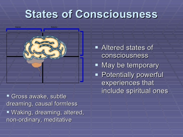 States of Consciousness <ul><li>Altered states of consciousness </li></ul><ul><li>May be temporary </li></ul><ul><li>Poten...