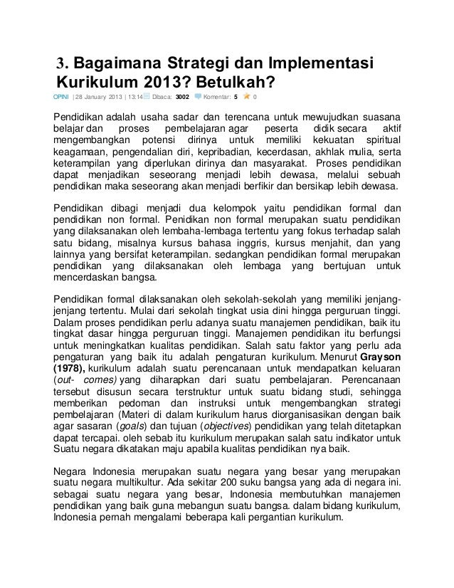 Rasional Pengembangan Kurikulum 2013 Pengembangan Kurikulum Perlu Dil