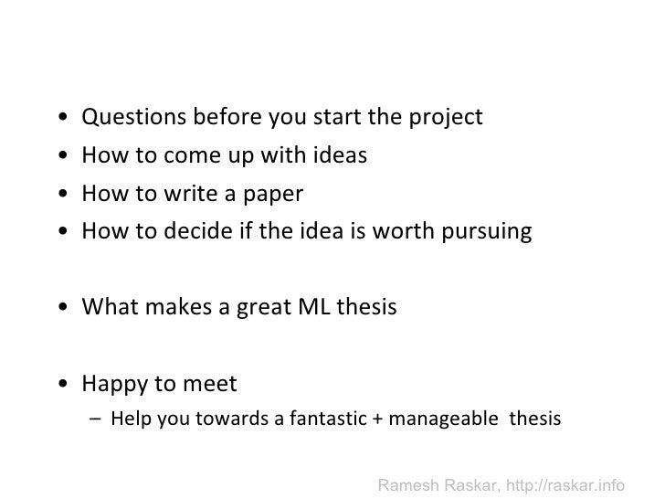 how to come up with a good thesis