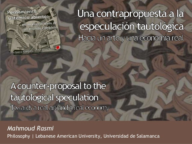 Mahmoud RasmiPhilosophy | Lebanese American University, Universidad de Salamanca