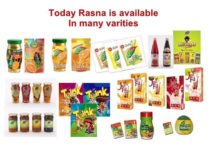 Today Rasna is available In many varities