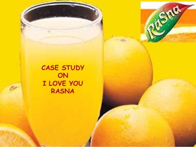 CASE STUDY    ONI LOVE YOU   RASNA