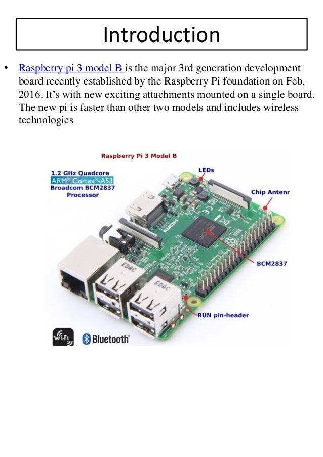 Raspberry Pi 3 Model B Pdf Download Online - Robomart