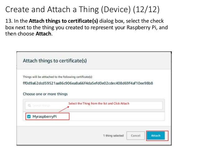 Raspberry pi and AWS