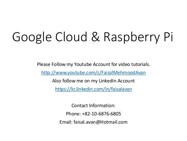 Raspberry pi and Google Cloud