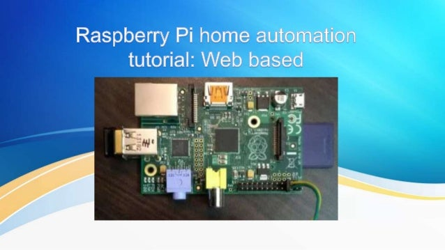 raspberry pi home automation idea
