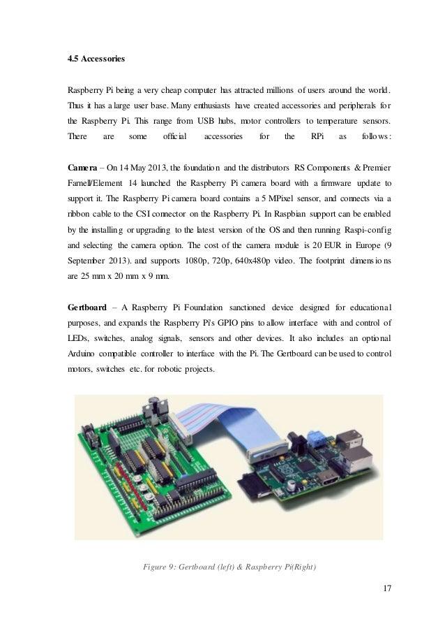 A seminar report on Raspberry Pi