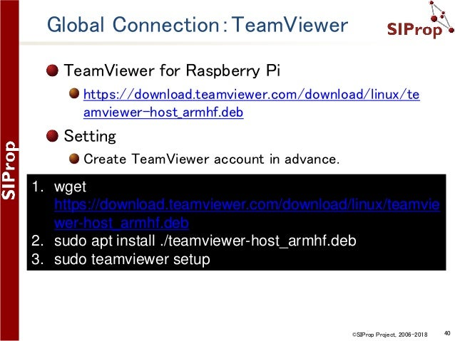 install teamviewer on raspberry pi zero