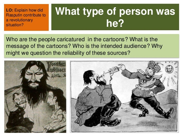 rasputin sex maniac or holy man Rasputin - sex maniac or holy man different historical perspectives on rasputin and his contribution to the downfall of the romanovs - source study this powerpoint contains information on the following: • who was rasputin.