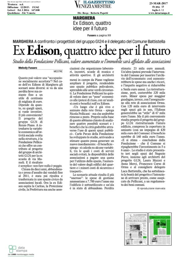 23-MAR-2017 da pag. 13 foglio 1 / 2 Dir. Resp.: Roberto Papetti www.datastampa.it Lettori Ed. I 2016: 147.000 Diffusione 1...