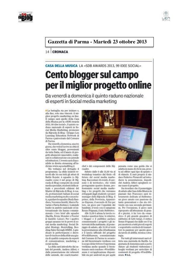 Gazzetta di Parma - Martedì 23 ottobre 2013