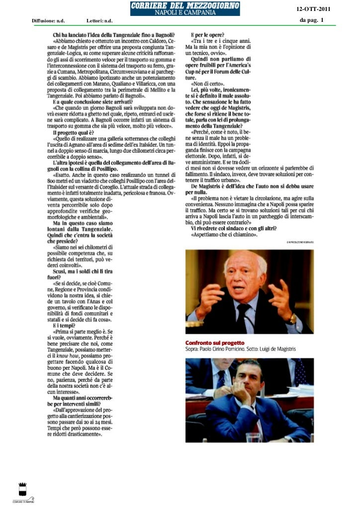 12-OTT-2011Diffusione: n.d.   Lettori: n.d.   da pag. 1