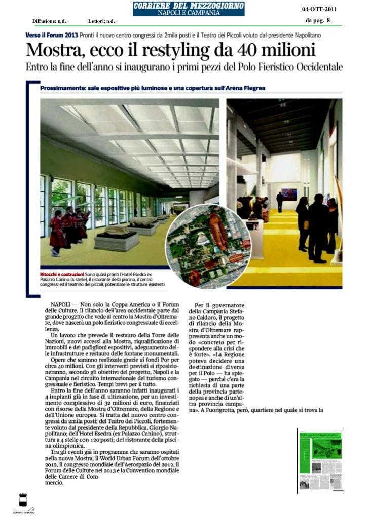 04-OTT-2011Diffusione: n.d.   Lettori: n.d.   da pag. 8