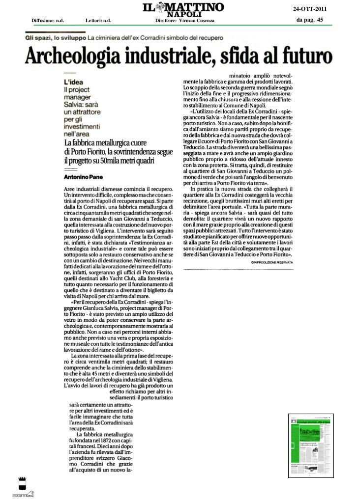 24-OTT-2011Diffusione: n.d.   Lettori: n.d.   Direttore: Virman Cusenza   da pag. 45