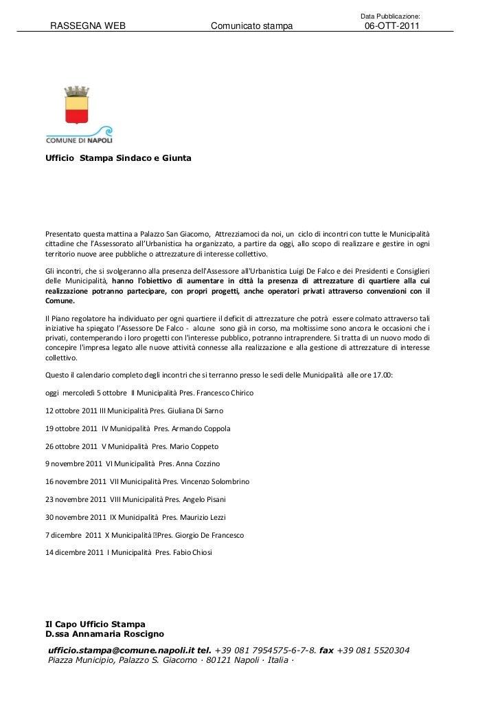 Data Pubblicazione: RASSEGNA WEB                                       Comunicato stampa                                 0...