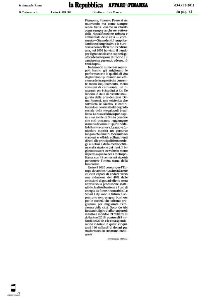 Settimanale Roma                                              03-OTT-2011Diffusione: n.d.   Lettori: 568.000   Direttore: ...