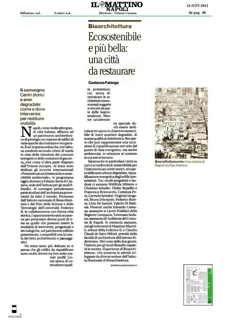 21-OTT-2011Diffusione: n.d.   Lettori: n.d.   Direttore: Virman Cusenza   da pag. 48