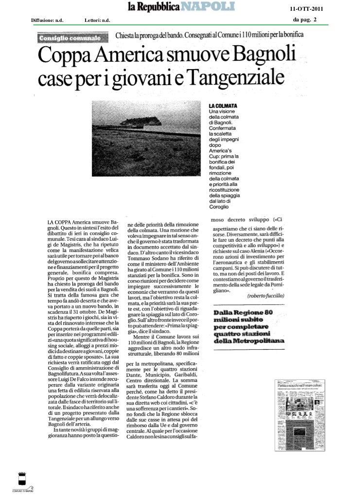 11-OTT-2011Diffusione: n.d.   Lettori: n.d.   da pag. 2
