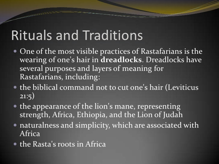 An essay on rastafari people and religion