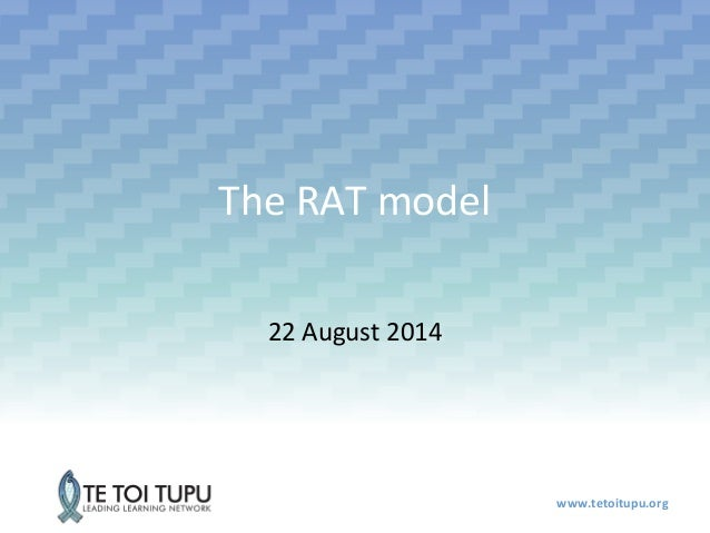 www.tetoitupu.org  The RAT model  22 August 2014
