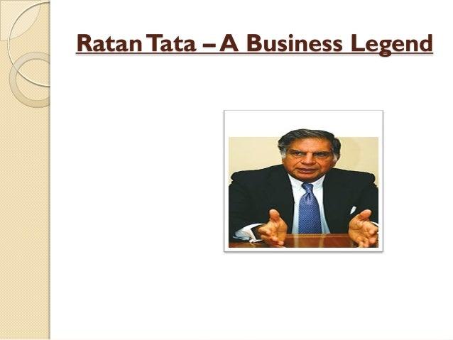 RatanTata – A Business Legend