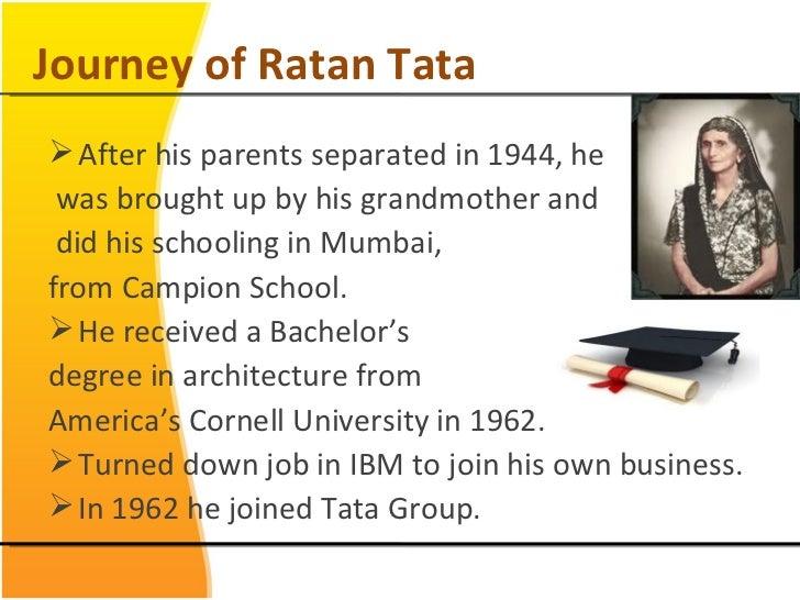 Ratan tata morden entreprenure for Internship for mechanical engineering students in tata motors