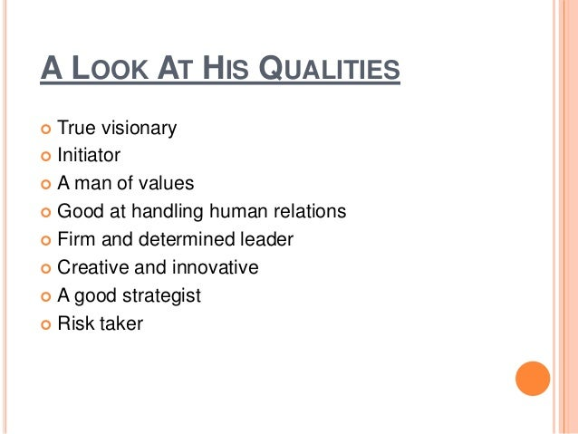 List of qualities in a man