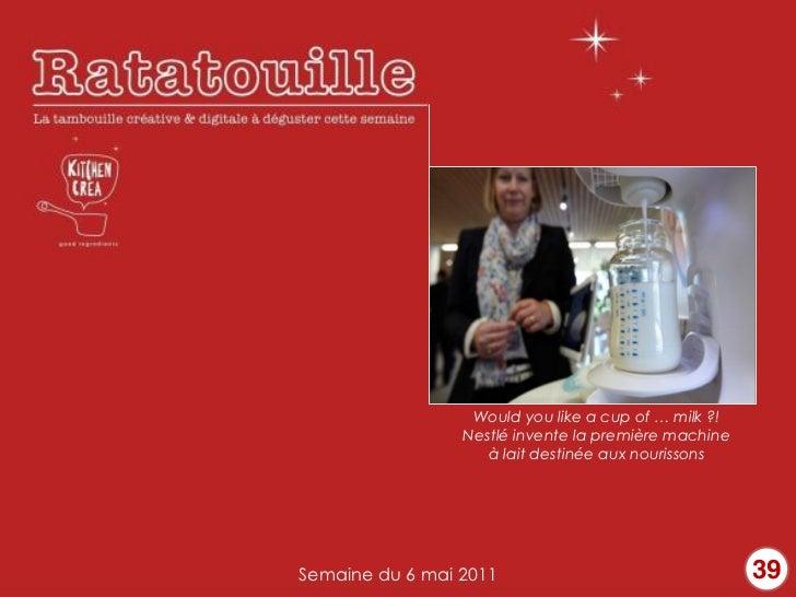 Nestlé invente la première machine                    à lait destinée aux nourissonsSemaine du 6 mai 2011                 ...