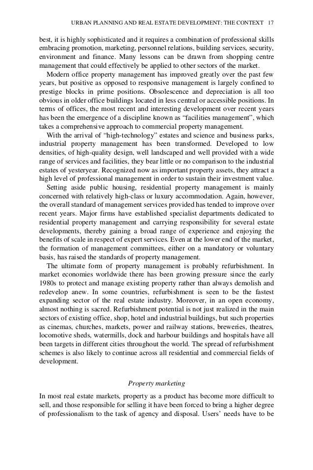 Ratcliffe,j (1996) Urban Planning and Real Estate Development