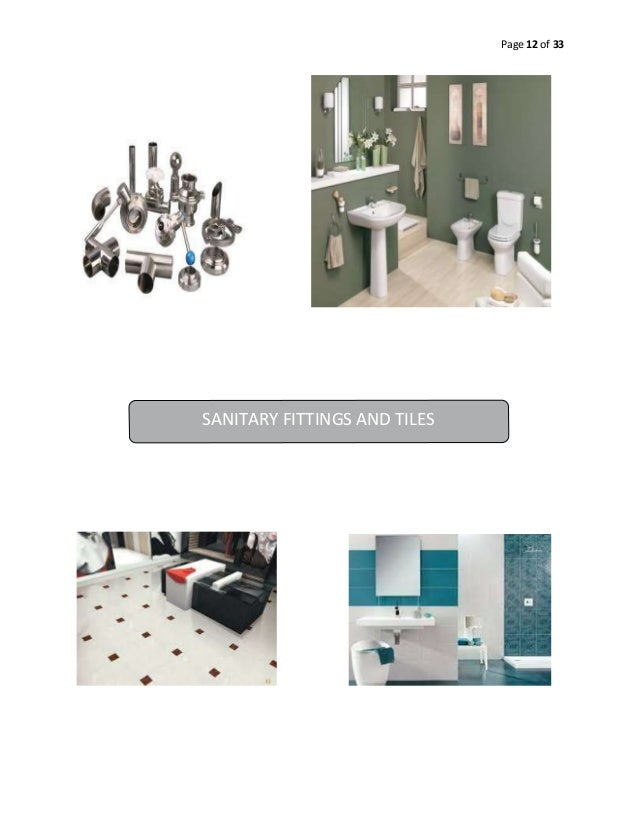 Page 12 of 33  SANITARY FITTINGS AND TILES
