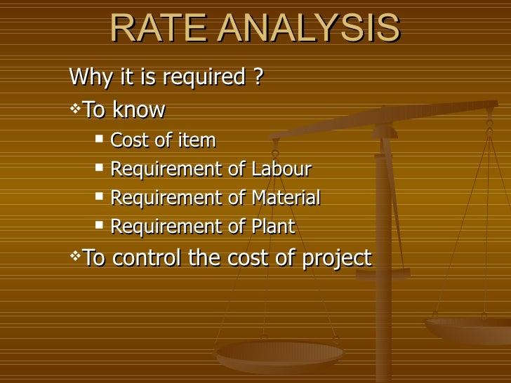 Rate Analysis   Site Meeting Slide 2